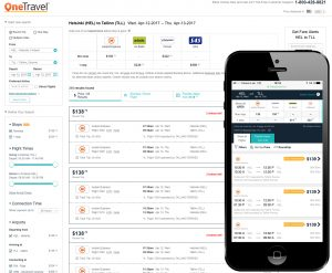 The first ferry GDS reservations were made through OneTravel, one of the top 10 US online travel agencies